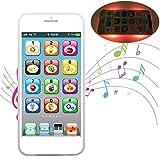 Rsoamy Smart Kid's Phone Lernspielzeug, kinderhandy mit 8-Funktions-Touchscreen und blendende LED-Lichter Musik Lernen Lernspielzeug Geschenk für Baby Kids