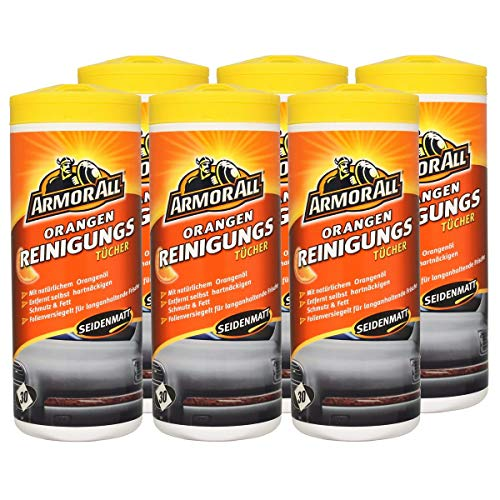Armor All 6X Orange Clean Cleaner Reinigungstücher 30 STK