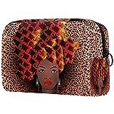 Bolsa de cosméticos para Mujeres Mujer afroamericana Bolsas de Maquillaje espaciosas Neceser de Viaje Organizador de Accesorios