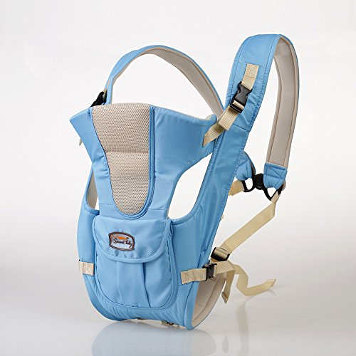 Polyester Coton Porte-bébé Confort à l'avant et à l'arrière Tabouret de taille pour enfants Sac à dos Ceinture de transport Siège de hanche pour nouveau-nés, bébés et tout-petits Par GOMNEAR (bleu)