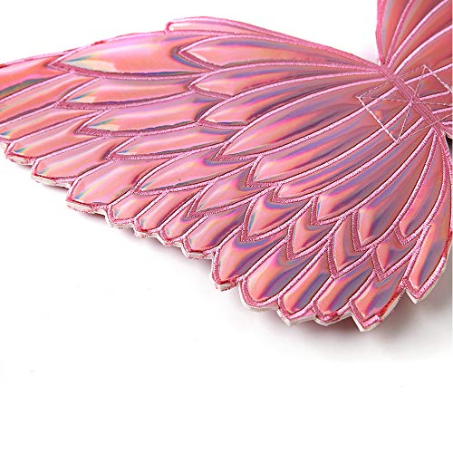 Butterfly Fairy Wings for Toddler Girls for Tinkerbell Unicorn Princess Birthday Party Favors Halloween Christmas Costumes Dress Up 2-5 Years Old (Hot Pink)
