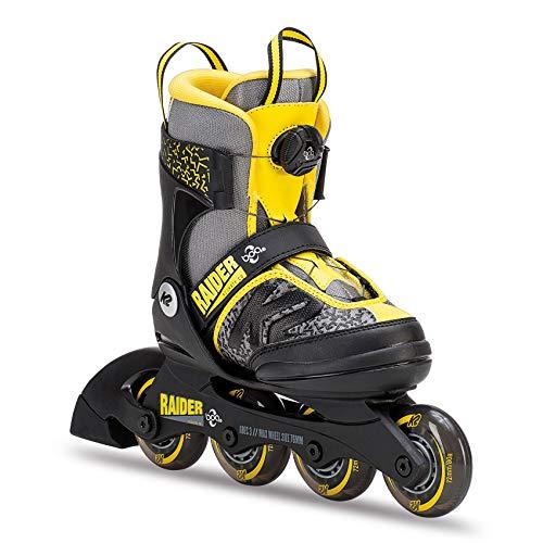 K2 Inline Skates RAIDER BOA Für Jungen Mit K2 Softboot, Black - Grey - Yellow, 30C0201