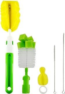 con spazzola per ciuccio a 360/° HLifuz Set di 2 spazzole eleganti per capezzoli e biberon