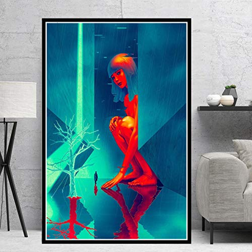JIUJIUJIU Poster Prints Blade Runner 2049 Movie Gift Modern Comic Oil Painting Canvas Art Wall Pictures Living Room Home Decor Without Framed 50*75cm