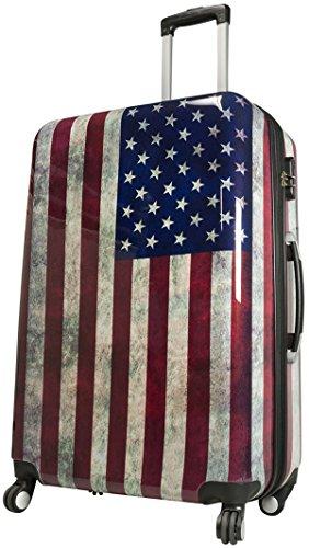 Koffer L Mittel Washington Amerika 67 cm Hartschale Rollen Reise Trolley Bowatex