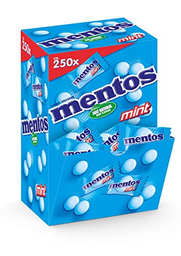 MENTOS Mint Presenter-Box, Verkaufsdisplay 1x250 Stück, 675 g