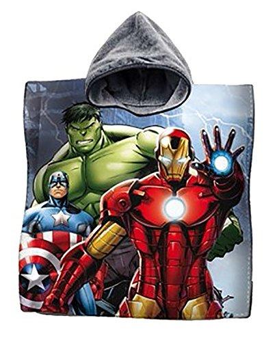 Albornoz poncho toalla algodón Vengadores Capitán América Iron Man Hulk playa niños