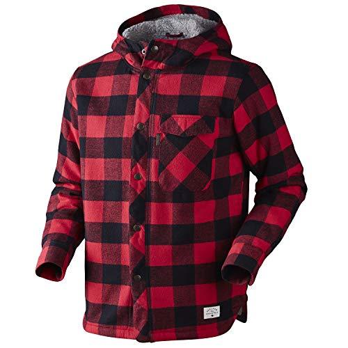 Seeland Canada Jacket Lumber Check Herren - Holzfällerjacke gefüttert für Männer Rot Schwarz , Größe:M