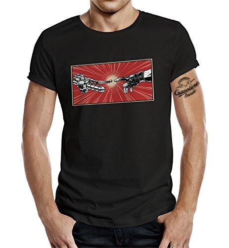 Gasoline Bandit T-Shirt original Biker Racer Design: Bikers Genesis L
