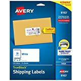 Avery 8163 Shipping Labels, Inkjet Printers, 250 Gift Labels, 2x4 Labels, Permanent Adhesive, TrueBlock, White