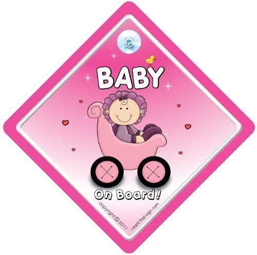 Baby On Board, petit-enfant à bord, panneau pour voiture, poussette Rose 3, panneau bébéà bord, bébéà bord, panneau bébé Poussette, bébé, signe pour voiture, pare-chocs autocollant, Baby on Board