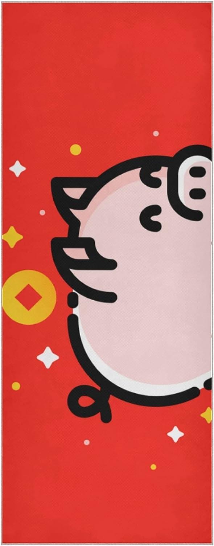 Yoga Mat No Slip Super beauty product restock quality top Cute Funny Piggy Weekly update Bank Towel So