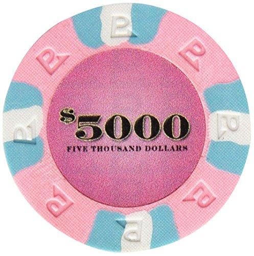 Trademark Poker NexGEN 6000 Series PRO Classic Style Poker Chips (Set of 100), 9gm, Pink