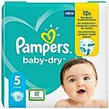 Pampers Baby-Dry talla 8, 21 pañales, hasta 12 horas de protección completa, 17 kg +