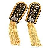 Insignia para hombros con adorno de borlas en cadena y estrellas