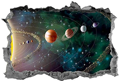 Wandtattoo'Solar System,3d,Wall Art,Space,Bedroom,Planets,Sticker,Decal,Mural'
