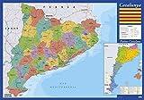 Vade mapa Cataluña - Tapete escritorio, Vade escolar multifuncional, Protector escritorio