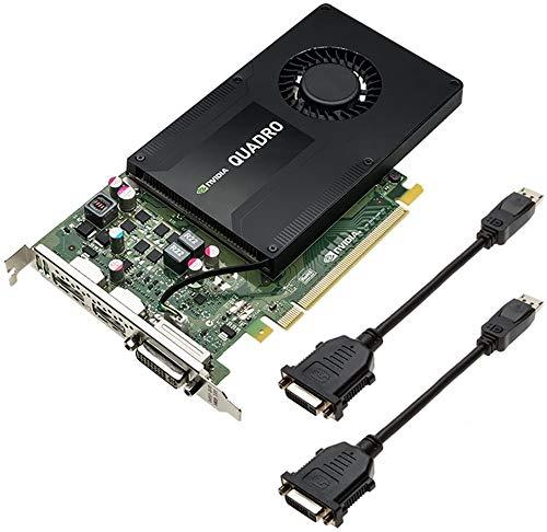 Nvidia Quadro K2200 4 GB GDDR5, Einzelsteckplatz, 68 W, DisplayPort 1.2, DVI-I-Dual-Link, 640 CUDA-Kerne, PCIe Express-Grafikkarte mit Standardhöhenprofil - OEM-Kit