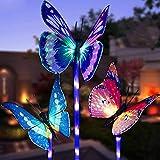 LED Luces Solar exterior Mariposa Impermeables Luz,MMTX 3 Piezas jardín...