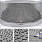Motor Trend Premium FlexTough All-Protection Cargo Mat Liner – w/Traction Grips & Fresh Design, Heavy Duty Trimmable Trunk Liner for Car Truck SUV, Gray (DB220-B2)