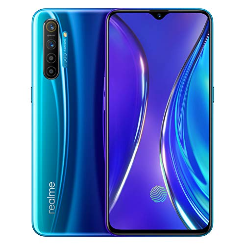 "Original Oppo realme X2 X 2 8G 128GB 4G FDD LTE Mobile Phone Global ROM 6.4"" FHD+ Snapdragon 730G Octa Core VOOC 30W Fast Charger 64MP NFC Support Google-by (CTM Global Store) (Blue 8+128)"