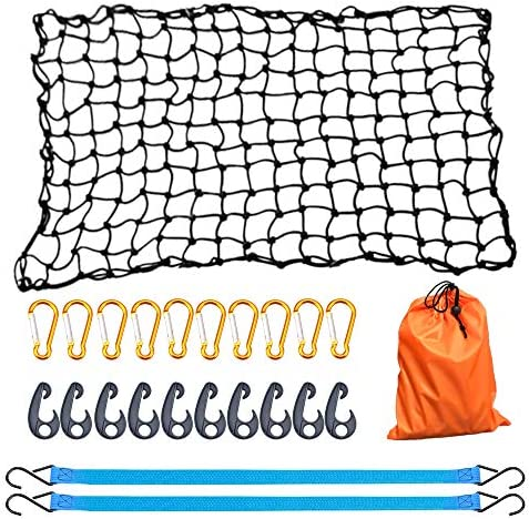 AxPower Bungee Cargo Net 4 x 6 Stretchable to 8 x 12 for Pickup Truck Bed Trailer Luggage Net product image