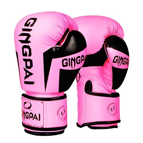 Guantes de Boxeo,Kickboxing Gloves para Adulto Hechos de Cuero Hombres Mujeres Cuero Acolchado Saco de Boxeo Dedos Guantes,Muay Thai Ideales para Kick Boxing Muay Thai Saco Entrenamiento,6 8 10 12oz