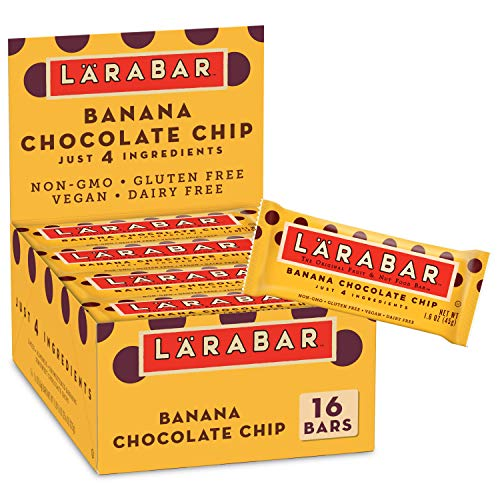 Larabar Fruit and Nut Bar Banana Chocolate Chip Gluten Free Vegan 16 ct