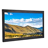 FastUU Monitor Industriale, Display in Metallo HD da 15,6 Pollici 1920x1080, Supporto Display Industriale HDMI/VGA/AV/USB, Monitor per Installazione a Parete per PC, TV, Fotocamera(EU)