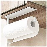 Portarrollos de papel de cocina para debajo del gabinete, soporte para papel higiénico montado en la pared, autoadhesivo, colgador para toallas de baño, frigorífico, fregadero