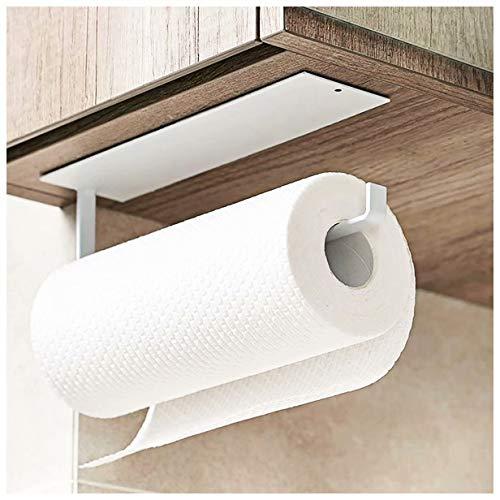 Soporte para toallas de papel de cocina debajo del gabinete – Soporte para rollo de inodoro autoadhesivo – Percha toallero para baño, nevera, fregadero