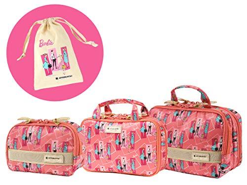 [アルティザン&アーティスト]コスメポーチ3点セット ピンク<Barbie:Authentic Series(バービー:オーセンティック・シリーズ)>1W-0111