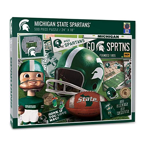 YouTheFan NCAA Michigan St Spartans Retro Series Puzzle - 500 Pieces, Large