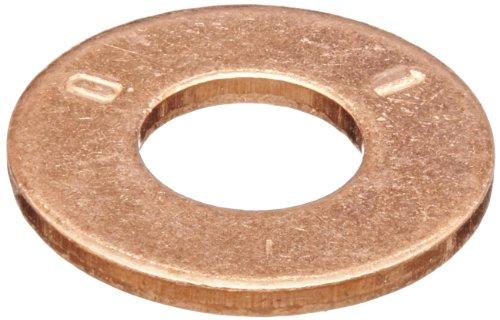 Copper Flat Washer, Plain Finish, 1/4