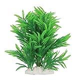 TEHAUX Acuario de agua artificial verde hierba hoja larga planta paisaje decoración pecera decoraciones