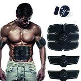 BEIAKE Estimulador Muscular, Línea De Chaleco, Los Músculos Abdominales, Adelgazamiento, Conformación, Six-Pack Estimulador Abdominal para Hombres Y Mujeres, Negro