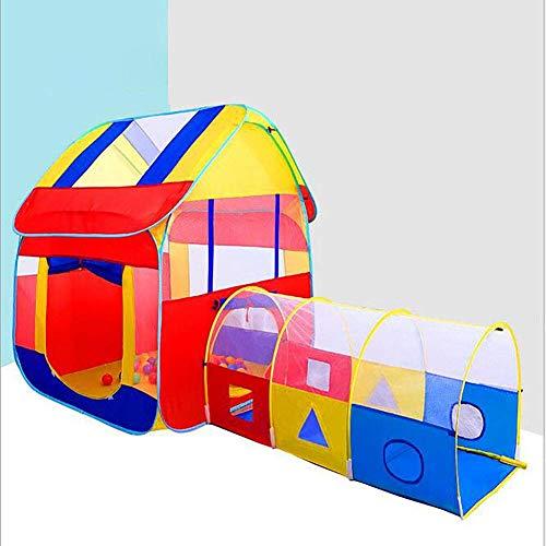 Tienda de Juegos Grande con túnel de Juguete, casa de Juegos para Interiores y Exteriores, jardín, Plegable, Plegable, Rosa, Tienda de Juegos para niños, Regalo de Fiesta
