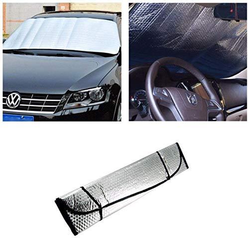 RARA® Car Front Windscreen Sunshade ~ Metallic Foldable Reflective Car...
