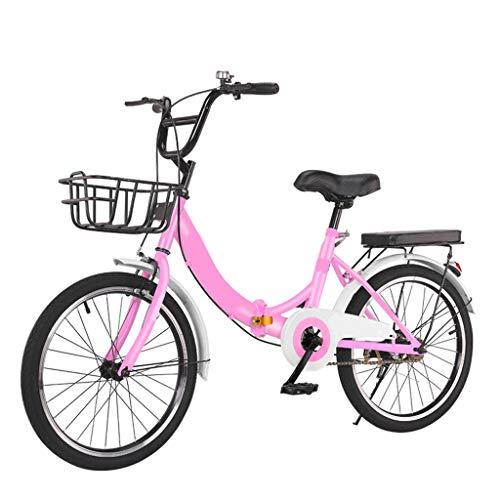 XYSQ Klapprad Gebraucht Aluminium Mit Variabler Geschwindigkeit Faltbare Fahrräder 20 Zoll, Leichte Bike Aluminiumrahmen, Mountainbike Getriebe Stahlrahmen Fender Gepäckträger Vorne Hinterrad