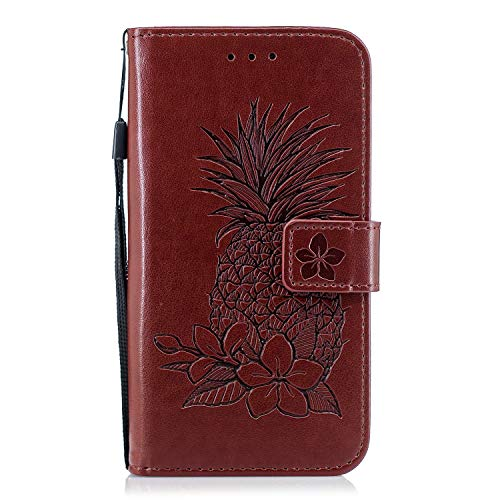 Best Deals! Herbests Compatible with Samsung Galaxy S6 Edge Wallet Case Emboss Pineapple Folio Magne...