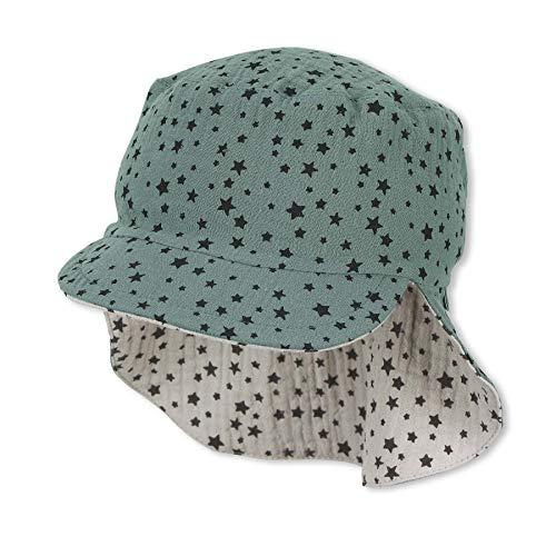 Sterntaler Baby Jungen Schirmmütze mit Nackenschutz Winter Hut, Dunkelgrün, 53 EU