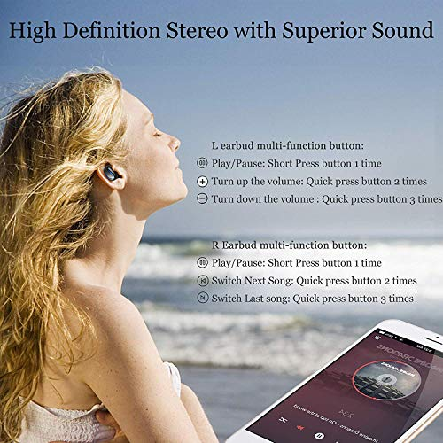Miclotus Headphones 5.0 TWS Bluetooth Headsets
