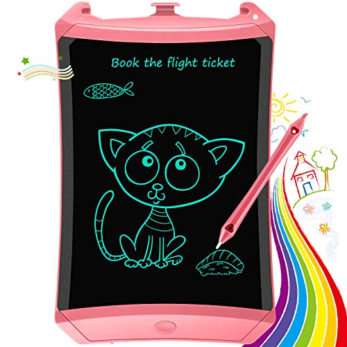 Bravokids Boys Girls Toys, Gifts Toys for 2-6 Year Old Girls Boys, 8.5 inch LCD Writing Tablet Kids Toddler Drawing Doodle Board Toys, Educational and Learning Toys Gifts for Age 3 4 5 6 7 8 12 (Pink)