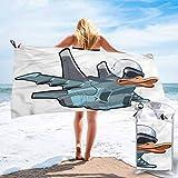 "Microfiber Bath Towel, Airplane,Jet Bird Angry Comic Craft, 31"" x 63"" Ultra Compact"