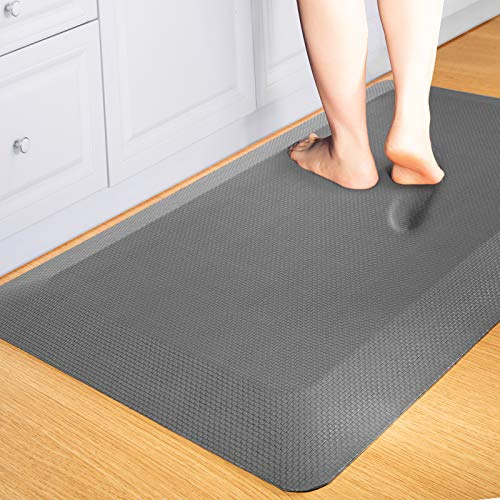Anti Fatigue Mat Kitchen Mats Cushioned,Thicken Core Foam 20x32x9/10-Inch,Perfect for Kitchens,Standing Desks and Garages,Phthalate Free,Relieves Foot,Knee,and Back Pain(Gray, 20'x32')