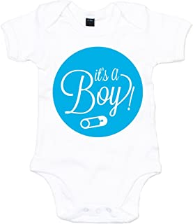 "Shirt Happenz It""s A Boy 01 Babystrampler Strampler Bodysuit Babybody Babyeinteiler Oeko-TEX"