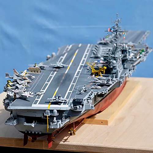 Montado Portaaviones Modelo,simulación 1 350 Us Navy Kitty