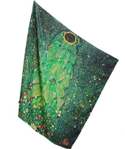 prettystern P033-110cm Oversize Handroulier Schweres Jugendstil Seidentuch - Gustav Klimt -...