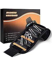 JUNSHUO Magnetische Gereedschap Polsband- Gereedschapsriem Pols | Bouten | Moeren | Schroeven | Spijkers | 15 Magneten voor Elektricien - Timmerman - Loodgieter - Bouwvakker - Doe het zelver