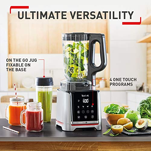 Tefal Infiny Mix Tritan BL91HD40 High-Speed Smoothie Blender, 1600 W, 2.6 liters, Grey